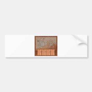 Leather and Stone Bird Bumper Sticker