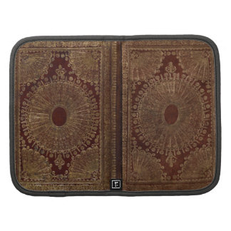 Leather Antique Vintage Print Book Cover Folio Planners