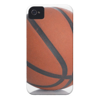 leather basketball isolated on a white background iPhone 4 case
