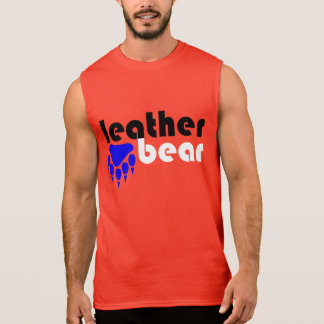 Leather Bear Blue Bear Paw Sleeveless Shirt