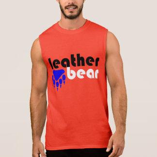 Leather Bear Blue Bear Paw Sleeveless Tee