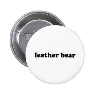 LEATHER BEAR PINBACK BUTTON