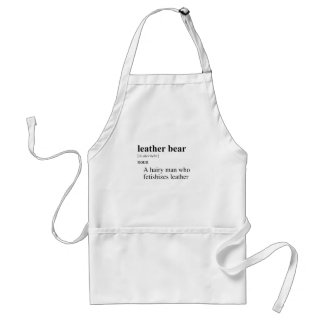 LEATHER BEAR DEFINITION ADULT APRON