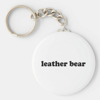 LEATHER BEAR KEY CHAINS