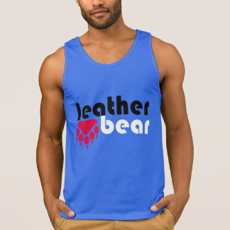 Leather Bear Red Bear Paw Tank Top