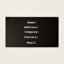 leather black - business card