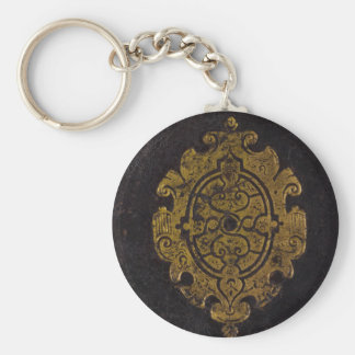 Leather Book Cover Keychain