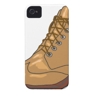 Leather Boot Sketch iPhone 4 Case