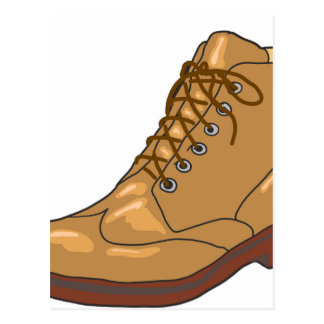 Leather Boot Sketch Postcard