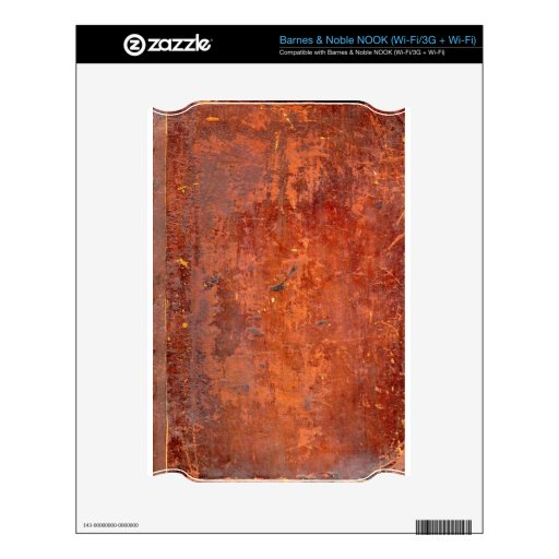 Leather Bound Antique Book Cover Decals For NOOK