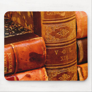 Leather Bound Books Mouse Pad