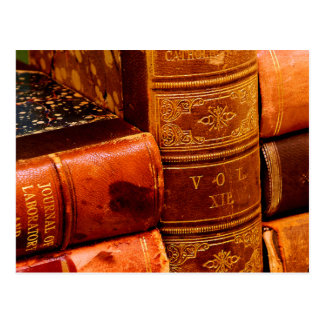 Leather Bound Books Post Cards