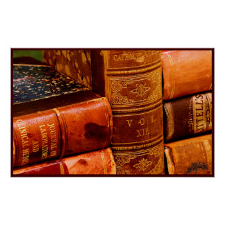 Leather Bound Books Poster