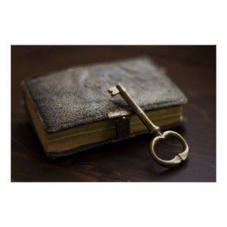 Leather Bound Diary Under Lock and Key Poster