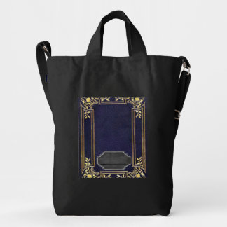 Leather Bound Grunge Book Duck Canvas Bag