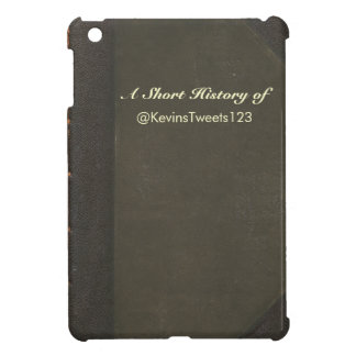 Leather-bound look Book Cover (optional text) Cover For The iPad Mini