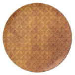 LEATHER BROWN TEXTURE.jpg Dinner Plate