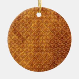 LEATHER BROWN TEXTURE.jpg Christmas Ornaments