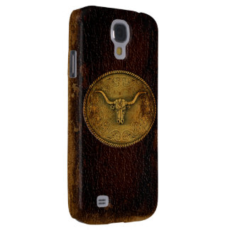Leather Buckled Steer Samsung S4 Case