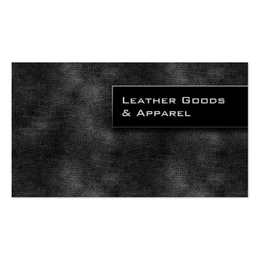 Leather Business Card Black Silver Gray