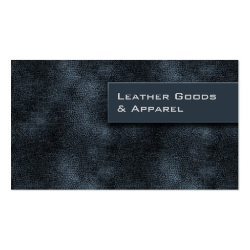 Leather Business Card Blue