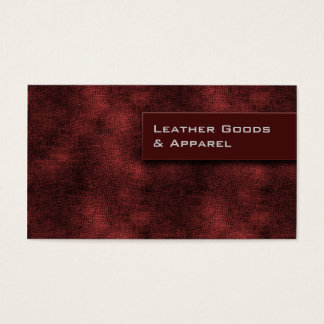 Leather Business Card Burgundy Red