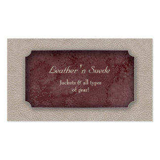 Leather Business Card 'n Suede Burgundy
