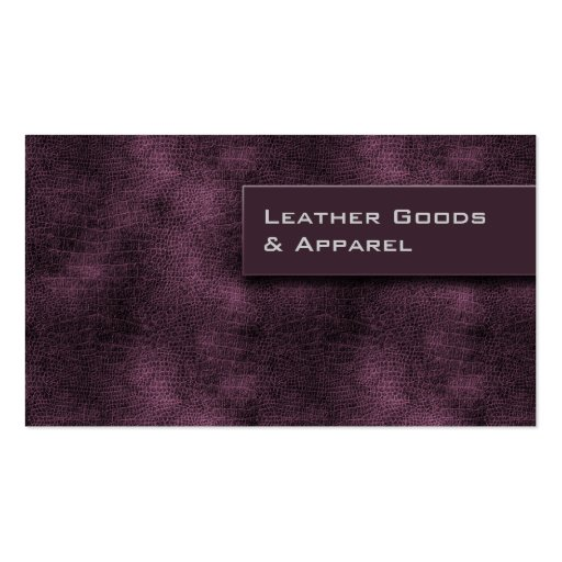 Leather Business Card Purple