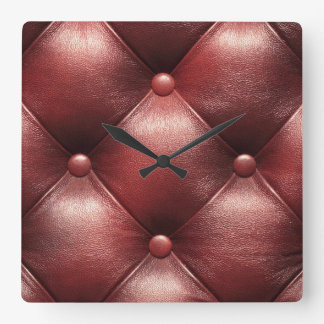 Leather Button Tufted Wall Clock