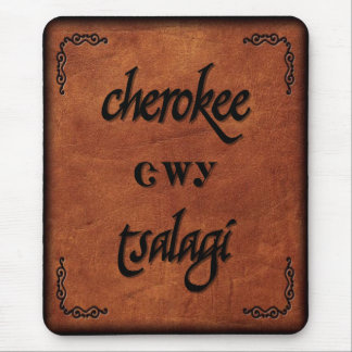 Leather Cherokee - Tsalagi Mouse Pad