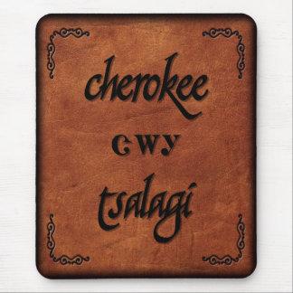 Leather Cherokee - Tsalagi Mouse Pad