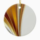 Leather Christmas Fractal Ceramic Ornament