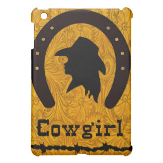 Leather Cowgirl Silhouette IPad Case