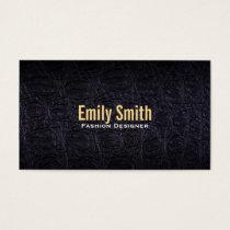 Leather (crocodile) business card
