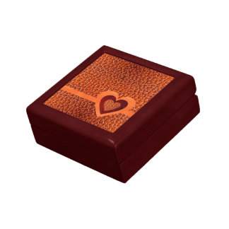 Leather Crocodile Red Brown Falsh Gift Box