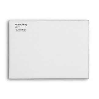 LEATHER DADDY DEFINITION ENVELOPE