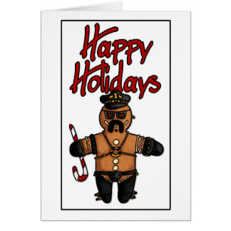 leather daddy gingerbread man card
