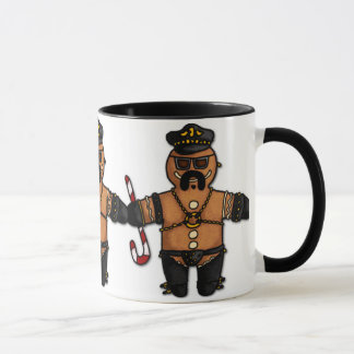 leather daddy gingerbread mug