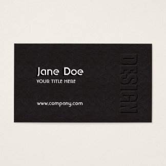 Leather Design Business Card