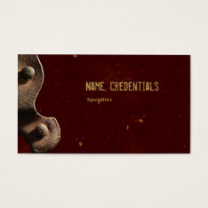 Leather Detail Business Card at Zazzle