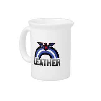 LEATHER EAGLE RAINBOW BEVERAGE PITCHERS