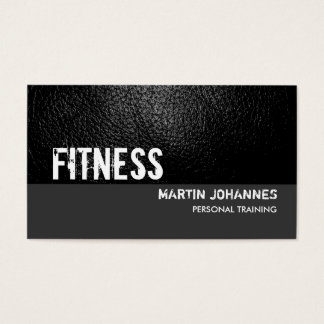 Leather Effect Grey Personal Trainer Business Card