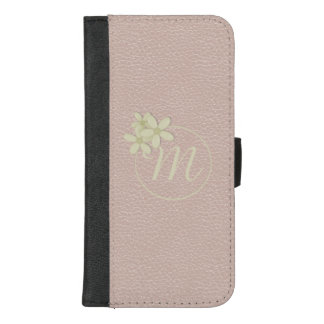 Leather Effect Rose Gold iPhone 8 Plus Wallet Case