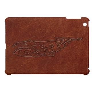 Leather Embossed Tribal Whale Art Print iPad iPad Mini Covers