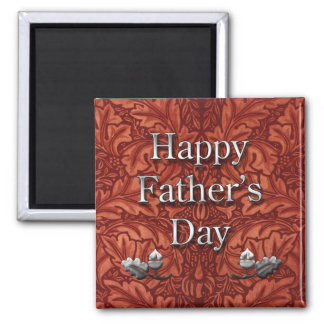 Leather Father's Day Magnet