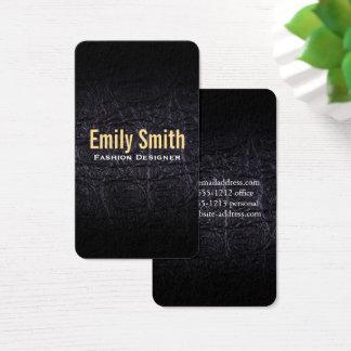 Leather Faux (crocodile) Business Card