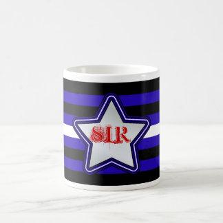 Leather Flag and Star Classic White Coffee Mug