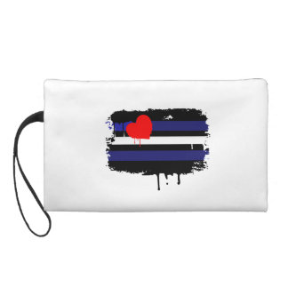 LEATHER FLAG DRIPPING WRISTLET