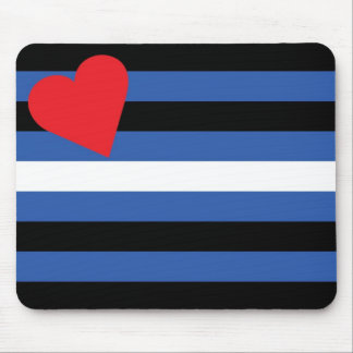 Leather Flag (traditional) Mouse Pad
