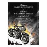 Leather & Flames Offbeat Biker Wedding Invitation